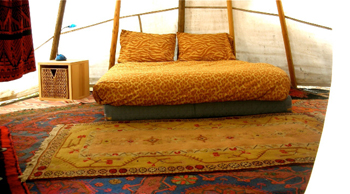 Chief Seattle tipi - inside